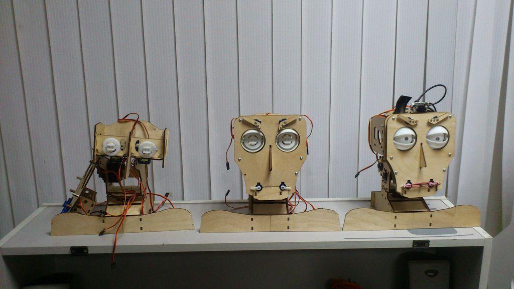 Робот голова на Arduino Fritz